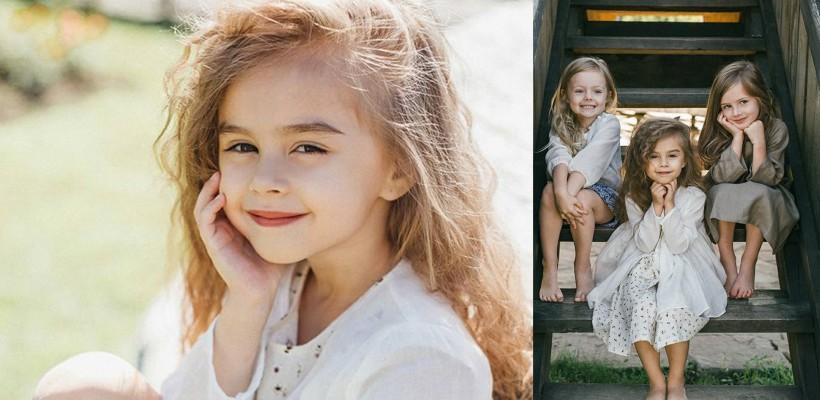 Fetița soților Melnic – imagine a unui nou brand vestimentar. Kamelia se simte minunat în fața camerei