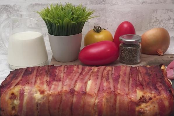 Lasagna învelită în șuncă… atât de crocantă și delicioasă (Video)