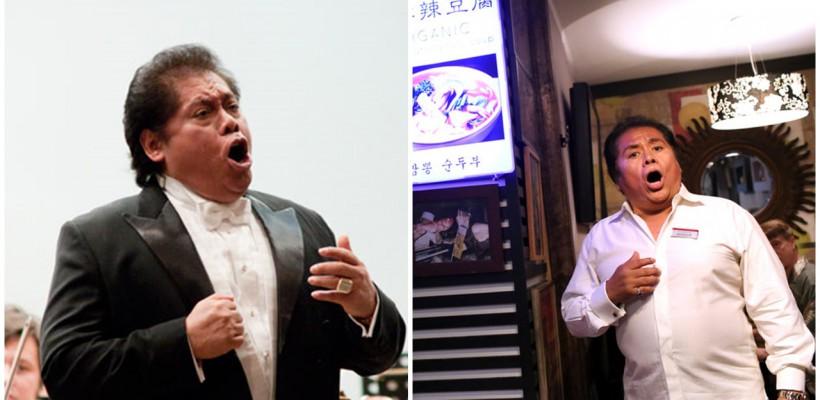 Mai ieri îi cânta elitei de la Moscova, astăzi – trecătorilor și oaspeților unui restaurant micuț din New York