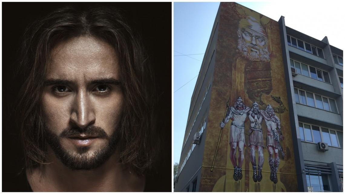 """Radu Dumbravă le-a dăruit chișinăuienilor """"Peretele gloriei"""", pictură care se întinde pe o suprafață de 120 metri pătrați"""