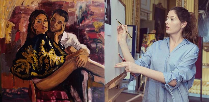 O tânără pictoriță din Republica Moldova a vrăjit-o pe Mădălina Ghenea cu talentul său