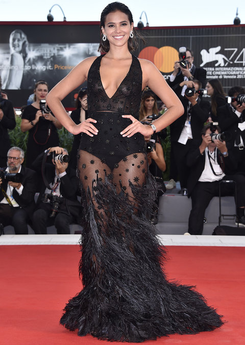 VENICE, ITALY - SEPTEMBER 03: Bruna Marquezine walks the red carpet ahead of the 'The Leisure Seeker (Ella & John)' screening during the 74th Venice Film Festival at Sala Grande on September 3, 2017 in Venice, Italy. (Photo by Pascal Le Segretain/Getty Images)
