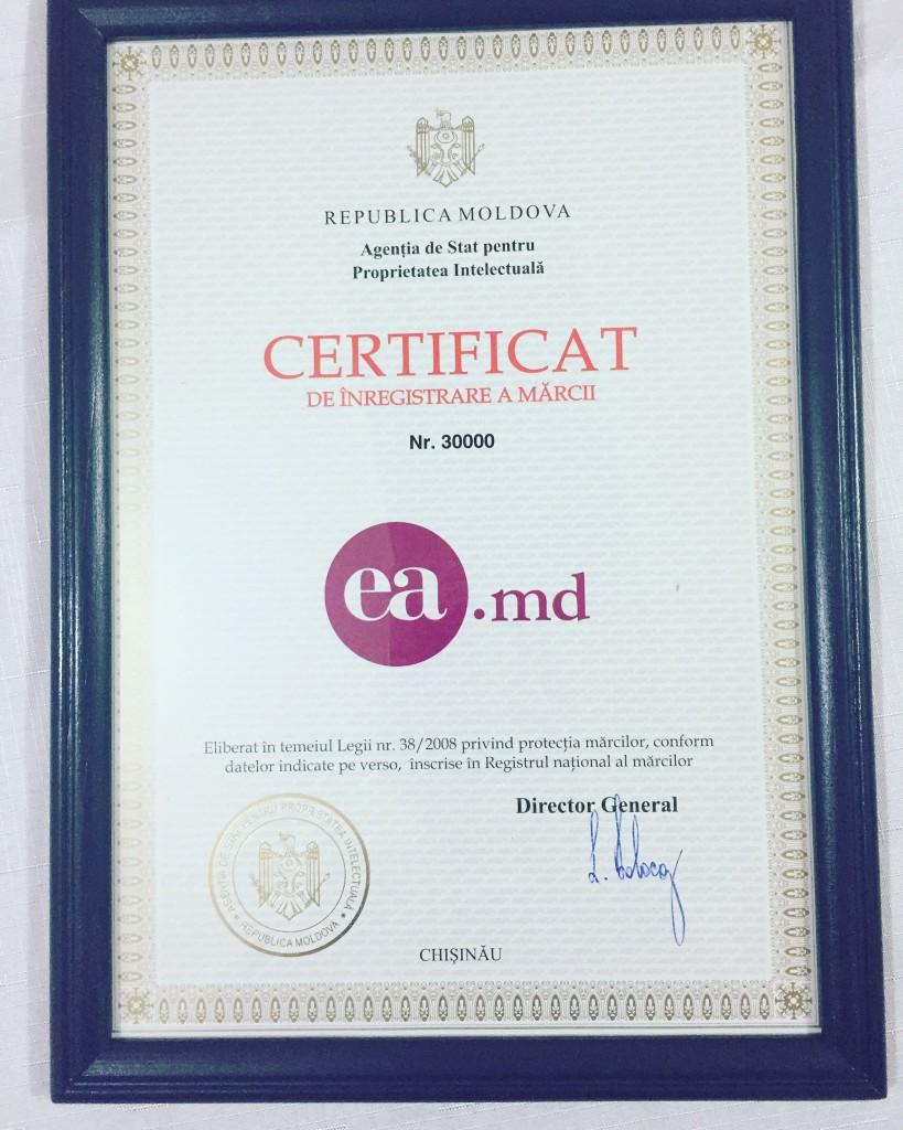 Certificat marca Ea