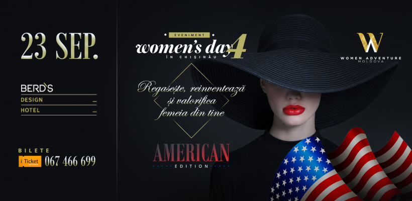 Women's Days in Chișinău revine cu o ediție în stil american! Iată ce vorbitori te vor ține pe jar