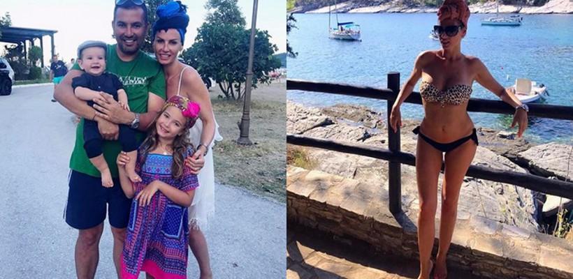 Andreea Bănică profită de ultimile raze de soare! Artista se află în vacanță împreună cu familia (Foto)