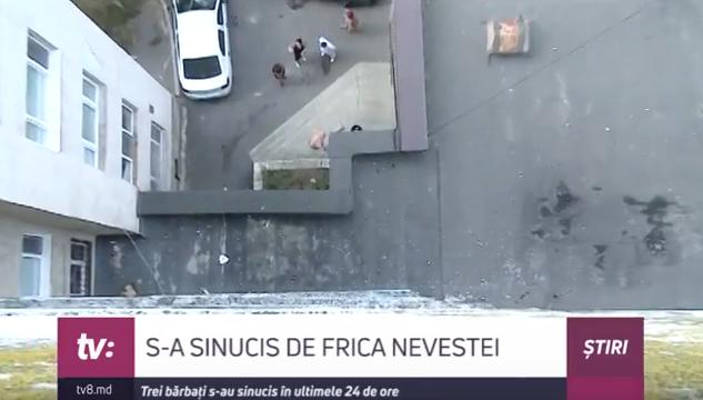 Un bărbat din Căușeni a sărit în gol de la etajul 4 când a fost prins de soție cu o altă femeie. Bărbatul a murit