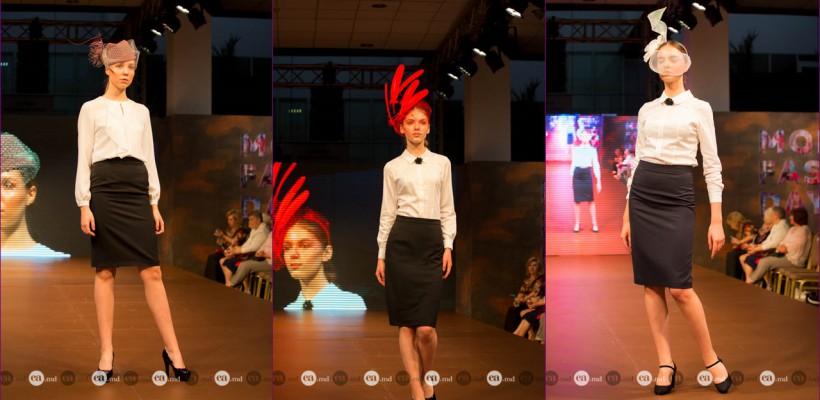 """Probabil cea mai magică prezență de la Moldova Fashion Days, FW-2017 – Pălăriile din colecția """"Filigran"""", cu pene suspendate de la Julie Anne"""