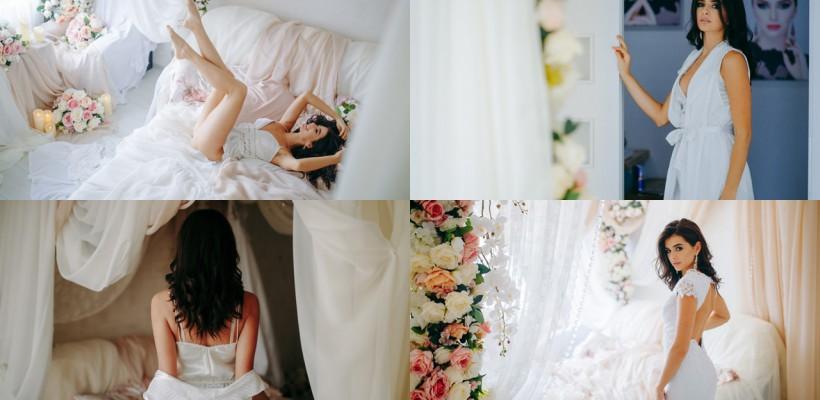 O prezentatoare TV din Moldova a surprins cu o ședință foto inedită, din dimineața nunții! Vezi cum a decorat dormitorul nupțial