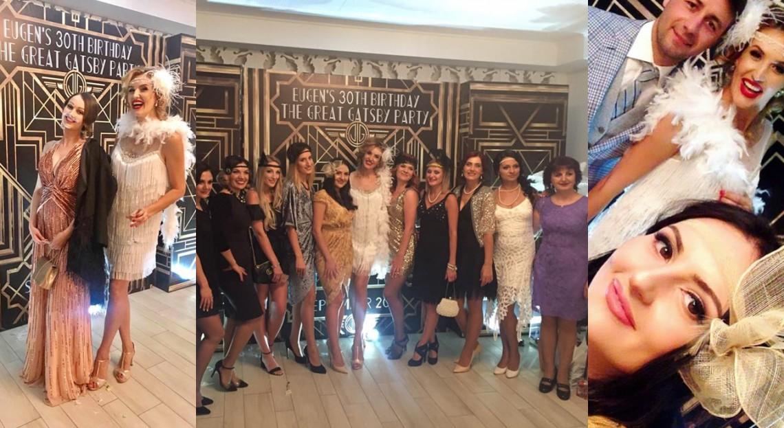 Tatiana Heghea a organizat o petrece în stil Gatsby pentru soțul său! Ce ținute au purtat invitații (Foto)
