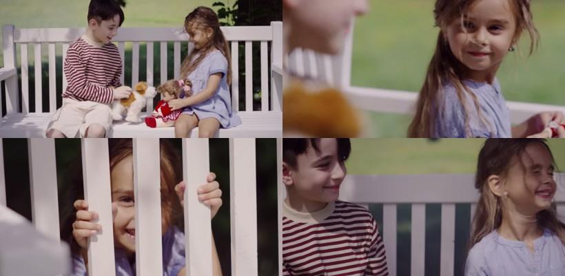 Kamelia Melnic, dulce și drăgălașă în cel mai nou videoclip a lui Robert Toma! Ce rol joacă micuța