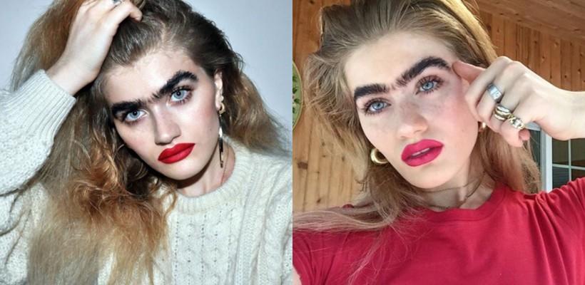 Un model din Grecia surprinde internauții cu look-ul său neobișnuit! Are o singură sprânceană și refuză să se penseze