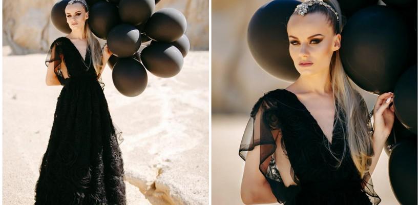 O tânără din Moldova a purtat o rochie de mireasă…neagră ca pana corbului