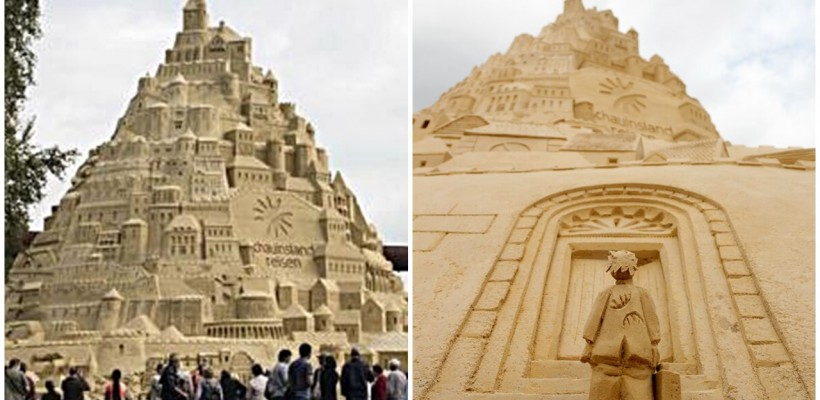 Cel mai înalt castel din nisip a fost construit în 23 de zile din 3500 tone de nisip