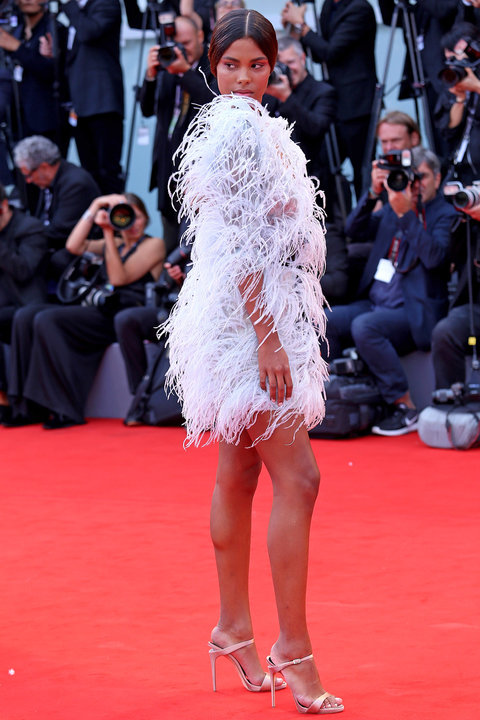 VENICE, ITALY - SEPTEMBER 02: Tina Kunakey walks the red carpet ahead of the 'Suburbicon' screening during the 74th Venice Film Festival at Sala Grande on September 2, 2017 in Venice, Italy. (Photo by Franco Origlia/Getty Images)