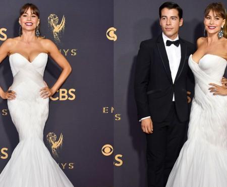 Iubiți sau… mamă și fiu?! Alături de cine s-a afișat actrița Sofia Vergara la decernarea Premiilor Emmy (Foto)