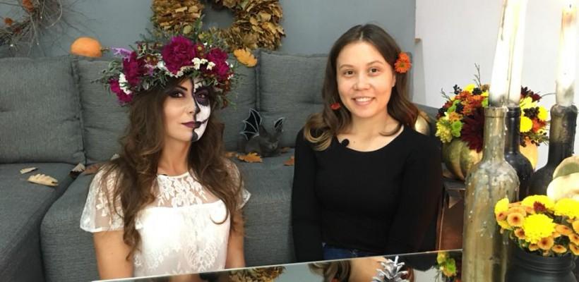 Halloween-ul poate fi și amuzant! Vloggerița Anna Tulgara și specialista în decor Larisa Jitari te învață cum să îți decorezi locuința (Video)