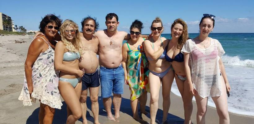 Nicolae Botgros s-a distrat pe cinste pe o plajă din Miami