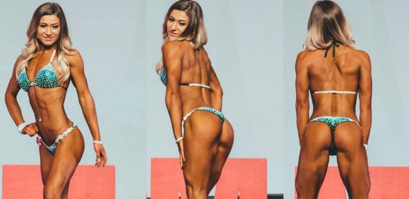 """Alexandra Frimu din satul Păruceni, campioană la bikini fitness în SUA: """"Sala de forță a devenit a doua mea casă"""""""