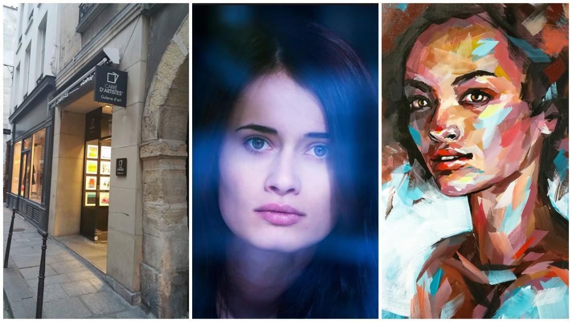 Artista Nicoleta Vacaru și-a expus eroinele pictate în acril la o galerie din Paris