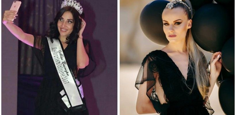 Rochia neagră de mireasă, creată de designerul Valeria Canțîr pentru nunta sa, a fost purtată de Miss Europe