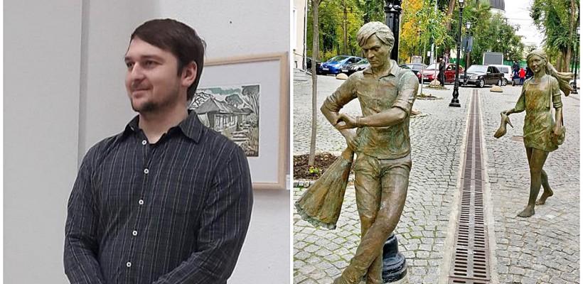 """Autorul monumentului îndrăgostiților de pe strada pietonală: """"Îmi pare rău că unii confundă iubirea cu sexismul"""""""