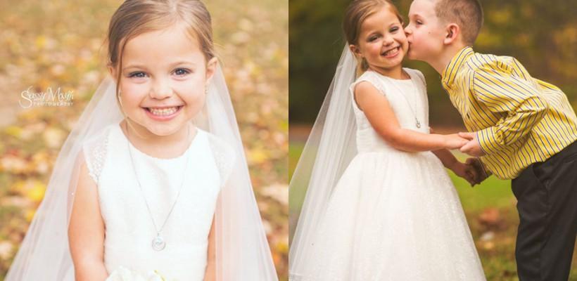 Mireasă la doar 5 anișori! Povestea emoționantă a unei fetițe din Anglia, devenită virală pe internet (FOTO)