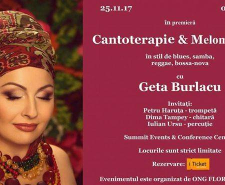 """În premieră Cantoterapie și Melomeditație cu Geta Burlacu! Artista va susține un """"seminar muzical"""""""
