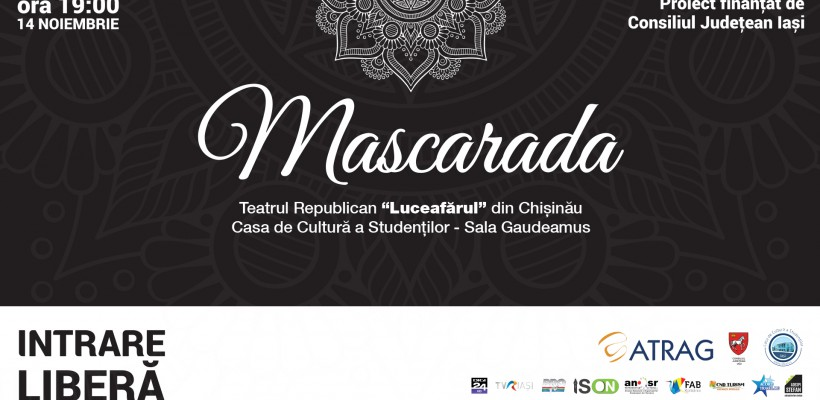 """Teatrul """"Luceafărul"""" din Chișinău va juca un celebru spectacol pe scena Casei de Cultură a Studenților din Iași"""