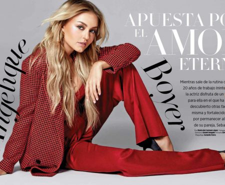 Angelique Boyer, superbă într-un nou pictorial! Actrița a ales un costum roșu ca focul (Foto)