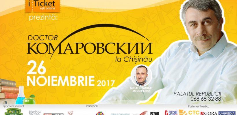 Renumitul doctor Komarovskiy la Chișinău! Vezi care va fi agenda seminarului.