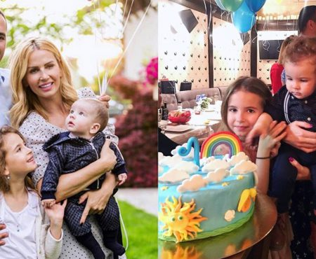 Andreea Bănică, de un an mămică de băiat! Interpreta i-a tăiat moțul fiului ei