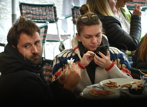 ** RIGHTS: WORLDWIDE EXCEPT IN ITALY ** Portofino, ITALY - *EXCLUSIVE* Romenian tennis player Simona Halep, who is currently ranked the world number one in singles by the Women's Tennis Association; is pictured enjoying a romantic break in Portofino with her new boyfriend. Pictured: Simona Halep BACKGRID UK 5 NOVEMBER 2017 BYLINE MUST READ: Cucu / BACKGRID UK: +44 208 344 2007 / uksales@backgrid.com USA: +1 310 798 9111 / usasales@backgrid.com *UK Clients - Pictures Containing Children Please Pixelate Face Prior To Publication*