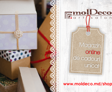 Faceți cunoștință: noul magazin online molDeco! Acum darurile sunt mai aproape de tine