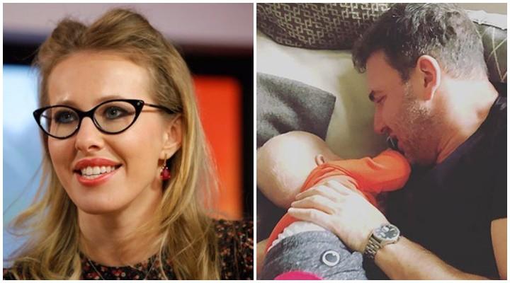 """Ksenia Sobchak a publicat o fotografie drăgălașă cu soțul și fiul ei: """"Iubiții mei bărbați!"""""""
