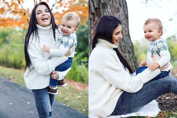 """Cristina Croitoru: """"Cu tine pot să merg până la capătul lumii și mai departe"""" Interpreta, într-o ședință foto cu fiul ei, Alexander (Foto)"""