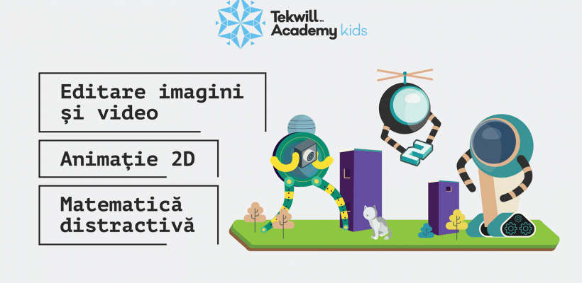 Tekwill Academy Kids lanseaza 3 programe noi pentru copii: Matematica distractivă, Animație și Editare foto și video