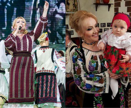 """Adriana Ochișanu și micuța Mihaela, superbe în port popular! """"Gospodina mamei"""" (FOTO)"""