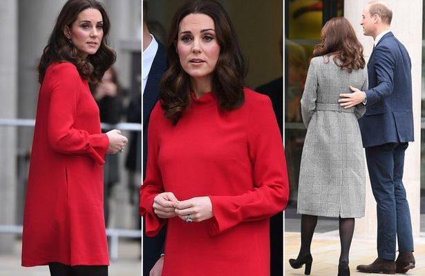 Kate Middleton a îmbrăcat haine de sărbătoare! A impresionat pe toată lumea cu această rochie roșie (Foto)