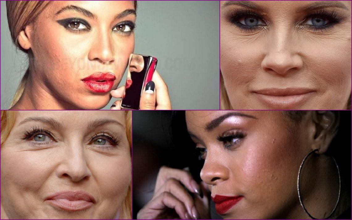 15 fotografii ale vedetelor care distrug mitul despre perfecțiunea feței lor (Foto)