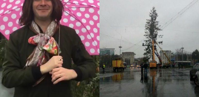 """Emilian Crețu parodiază situația bradului din PMAN: """"O brad frumos, cu crengile în minus"""""""