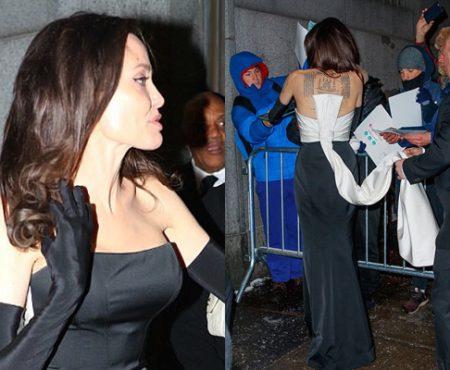 Angelina Jolie, într-o rochie fenomenală! Vezi cum s-a afișat actrița la un eveniment în New York (Foto)