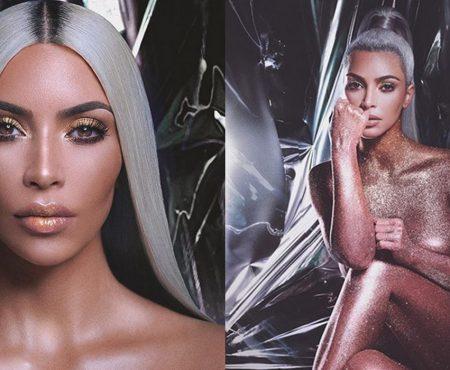 Kim Kardashian a pozat nud pentru a-și promova noua afacere. Vedeta a revenit la silueta de altădată (Foto)