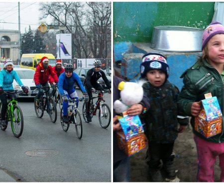 Fii și tu Moș Crăciun! Alătură-te ciclomoșilor care vor împărți daruri familiilor nevoiașe