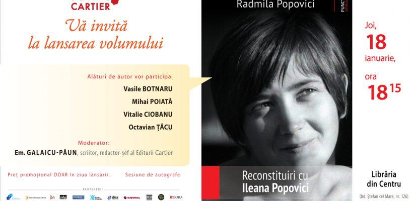 Scriitoarea Radmila Popovici lansează o carte de suflet despre mătușa de la București – Ileana Popovici