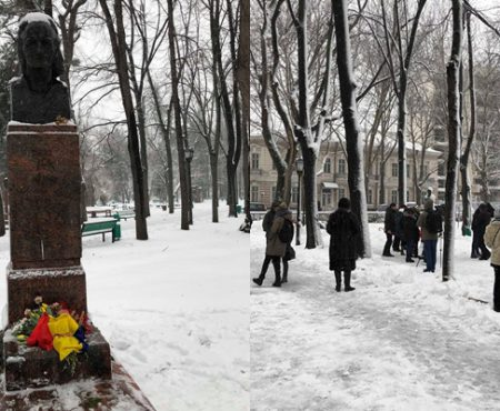 Unioniștii i-au adus un omagiu lui Grigore Vieru la nouă ani de la trecerea în neființă a poetului (Foto)