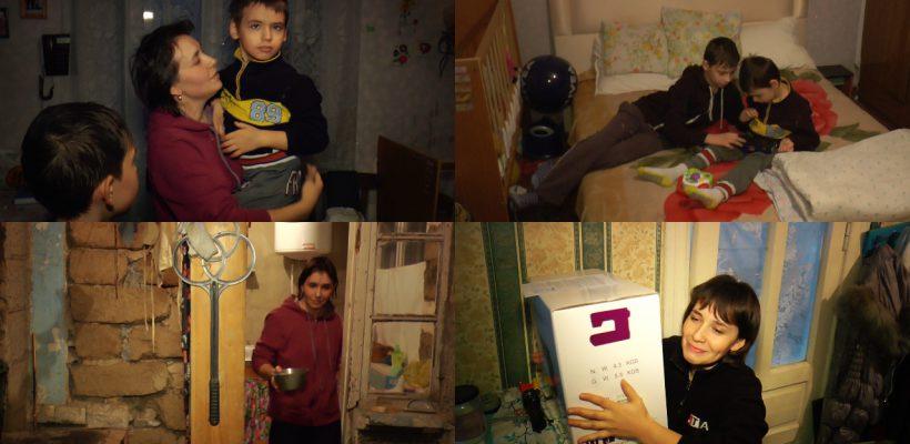 """Crește singură doi feciori într-o casă care stă să se dărâme. O mămică din Chișinău, eroina campaniei """"Omenie-n sărăcie"""" (video)"""