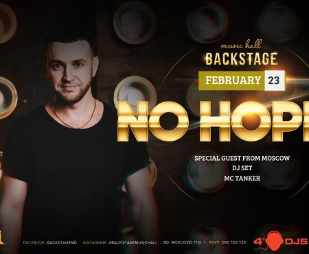 Eveniment inedit pe 23 februarie în unul dintre cele mai cotate cluburi din Chișinău cu No Hopes