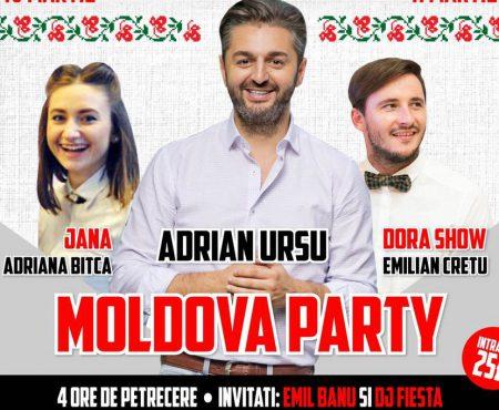 Adrian Ursu, Dora și Jana vor distra moldovenii din Anglia!
