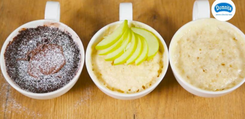 Trei deserturi perfecte pentru dejun, pe care le poți coace în cuptorul cu microunde (Video)