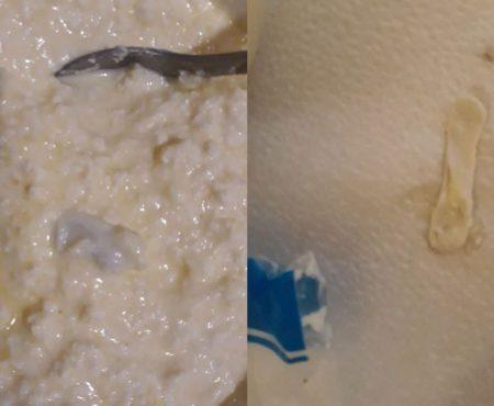 Ce a găsit o gospodină de la noi în brânza cumpărată de la supermarket (Foto)